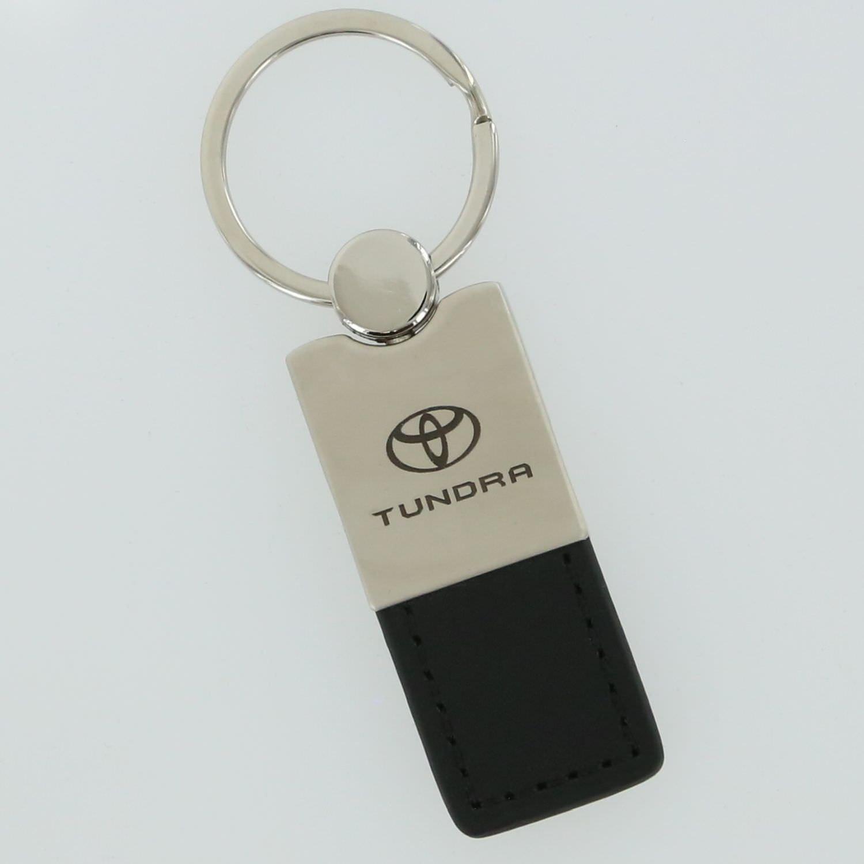Toyota Tundra Black Leather Key Ring