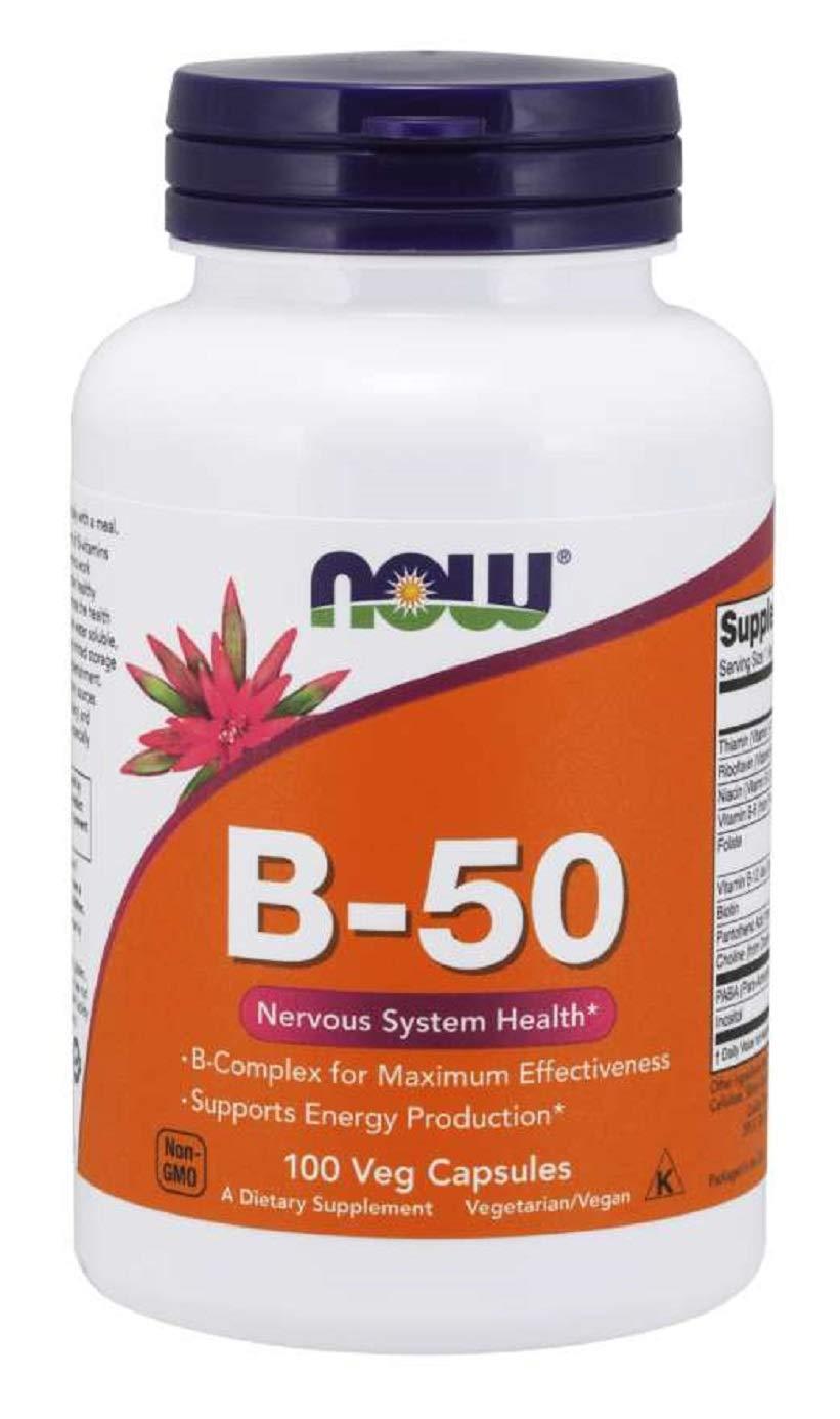 Now Vitamin B-50 mg,100 Veg Capsules