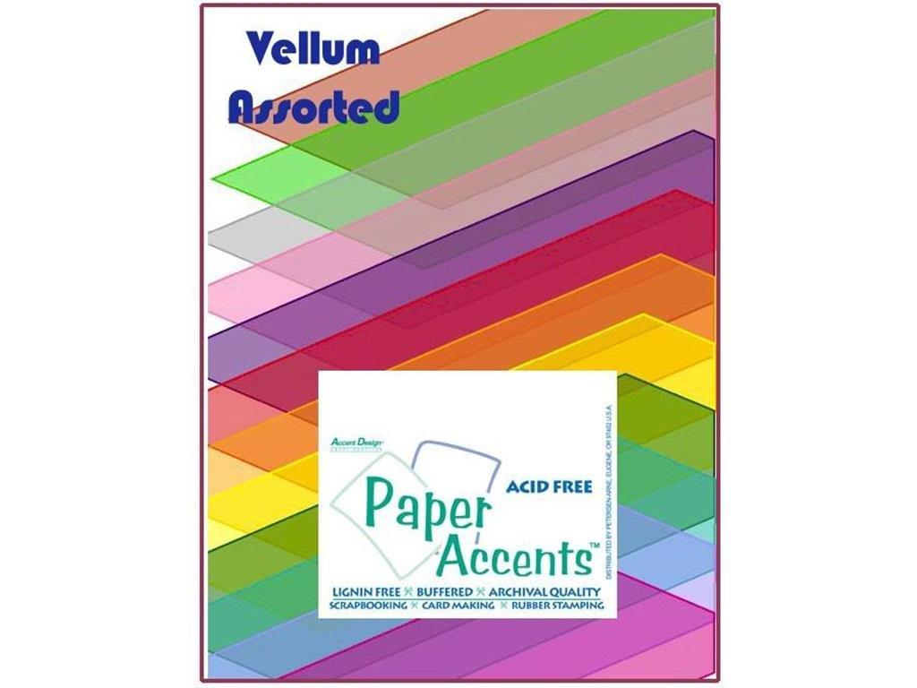 Accent Design Paper Accents PprVarPk851125AssortedVellum Paper