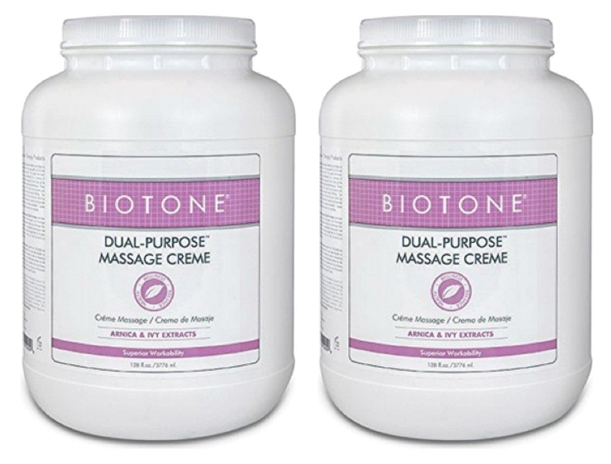 BIOTONE Dual Purpose Massage Creme, 2 x Gallons, DPC1G by Biotone