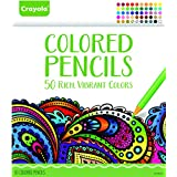 Crayola Colored Pencils, 50 Count, Vibrant Colors, Pre-sharpened, Art Tools, great for Adult Coloring Books