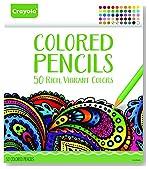 Crayola Colored Pencils, 50 Count Set, Pre-sharpened