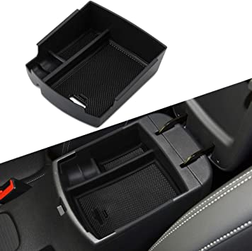 R RUIYA Customized for 2020 Ford Escape Car Center Console Armrest Box Glove Secondary Storage Console Organizer Insert Tray with Coin Holder