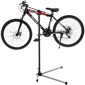 Bakaji Stand: reparación, mantenimiento, soporte para bicicletas, caballete regulable de bicicleta,