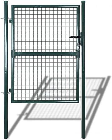 Porte Portail de Clôture en Grillage Galvanisée Barrière 3 clés Portail clôture