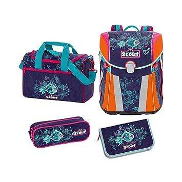 b6d56a3aad9bf Scout - Sunny - Schulranzen Set 4 tlg. - Picasso Fisch  Amazon.de ...