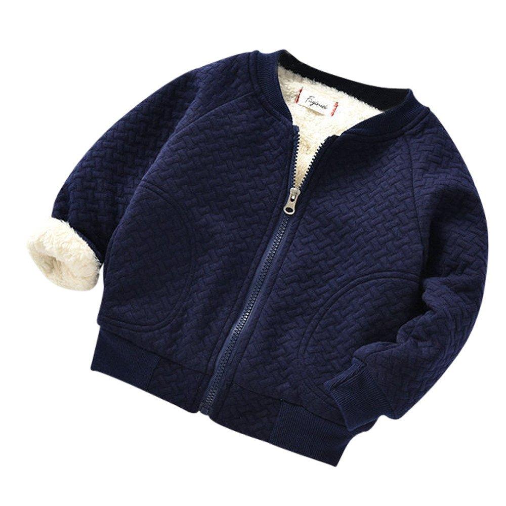 Baby Girls Boys Thick Fleece Bomber Jackets Zipper Coat Soft Warm Outerwear 6-24 Months Newborn Kids Cashmere Parka Jacket Long Sleeve Winter Cloth