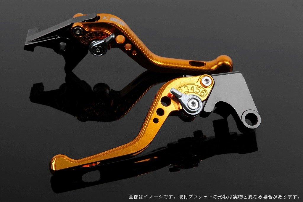 SSK アジャストレバー 3Dショート レバー本体カラー:ゴールド アジャスターカラー:シルバー TUONO V4R/Factory 2011-2016 AP0407111-SR B07MXC5XKZ