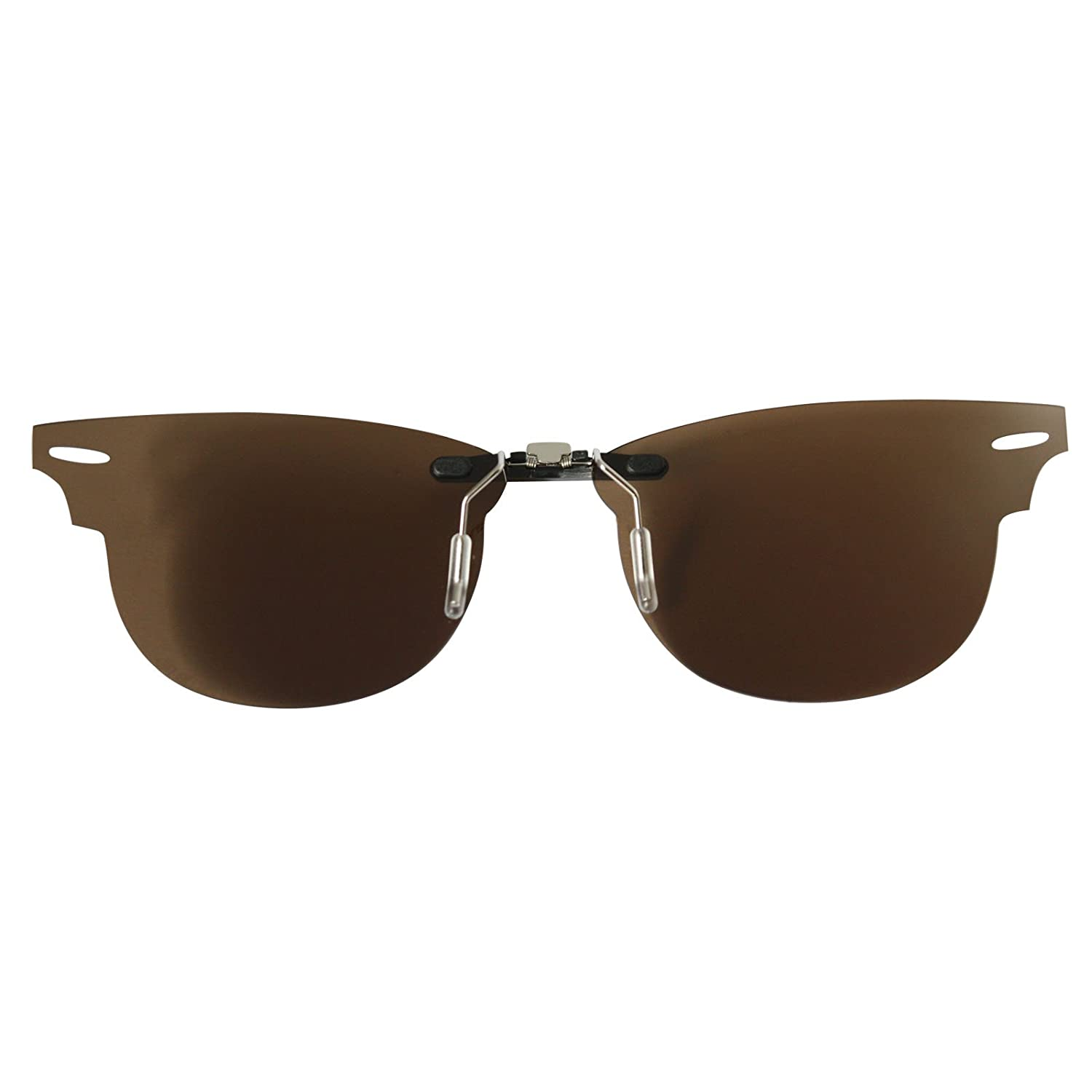 57f54f19bc4 Custom Polarized CLIP-ON Sunglasses for Ray-Ban CLUBMASTER RB5154 49X21  5154(No Frame) Brown - - Amazon.com