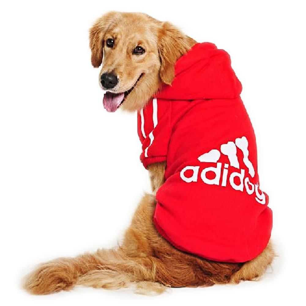 DULEE Adidog - Sudadera con Capucha para Perro, Chaqueta para Mascotas, Chaqueta de algodón