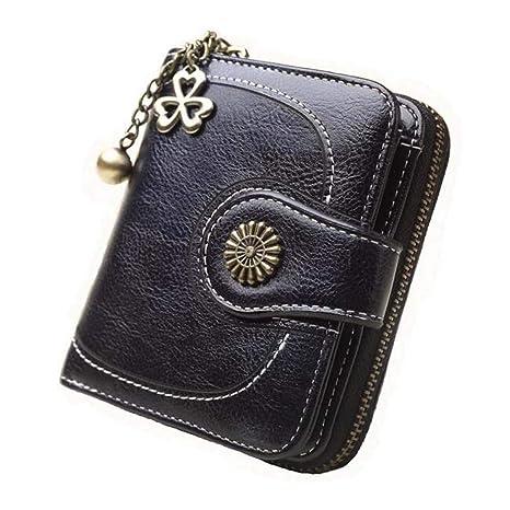 Womens Short Wallets PU Leather Holder Coin Clutch Purse Small Pockets Handbag