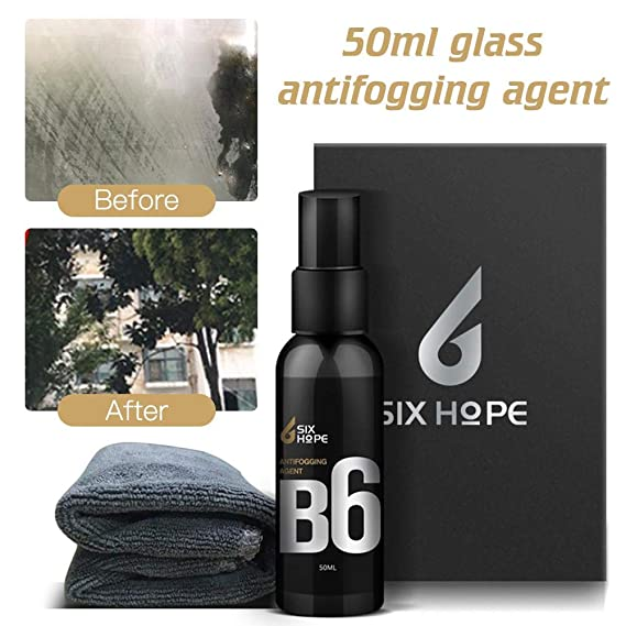 Hete-supply - Espray antivaho para Vidrio de Auto, con Revestimiento hidrofóbico de Nano Vidrio Anti Niebla para Parabrisas de Coche, Casco: Amazon.es: ...