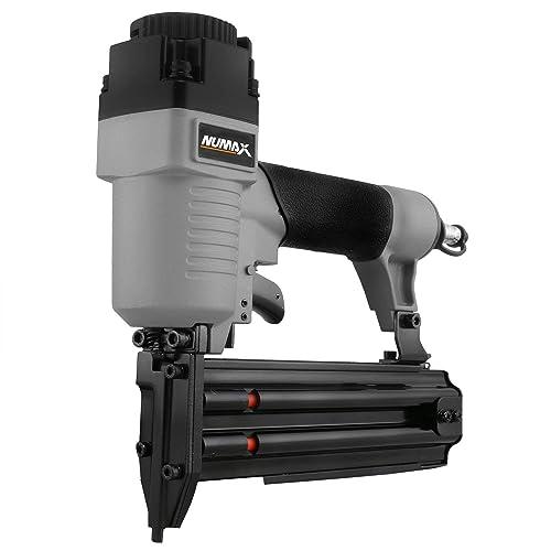 NuMax SBR50 Pneumatic 18-Gauge 2 Brad Nailer Ergonomic and Lightweight Straight Brad Gun