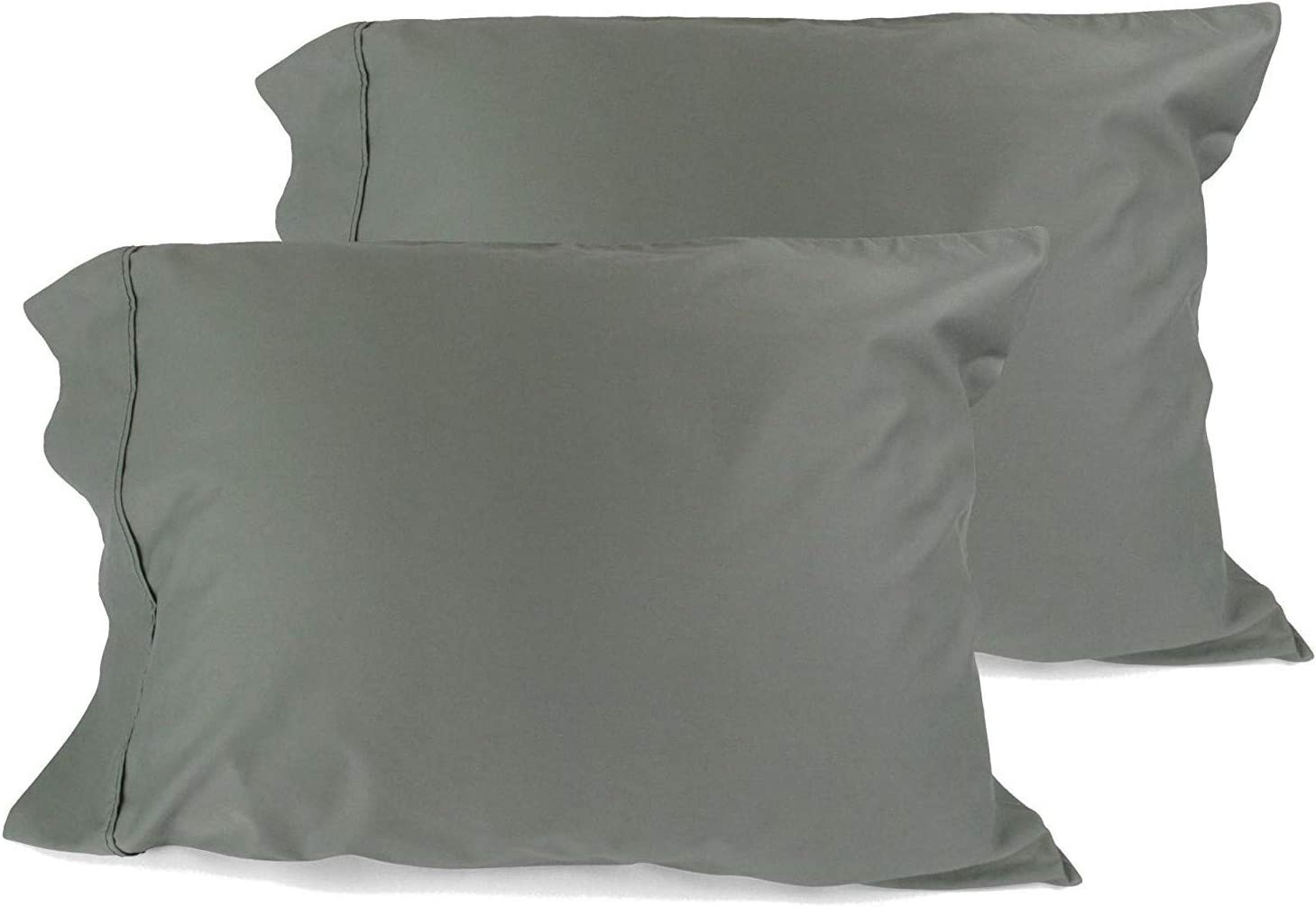 American Pillowcase 100/% Cotton High Thread Count fits 20x36 Pillow King 21x40 - Lilac Luxury Set of Pillow Cases Z-Style Hem Stitch