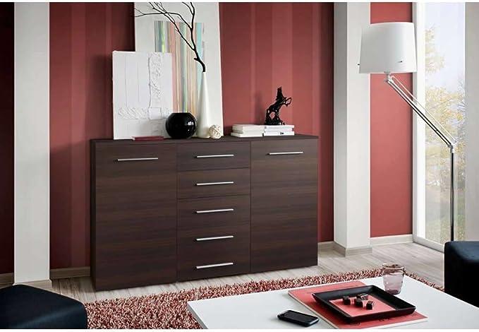 JUSTyou Fix Aparador Buffet Mueble de salón Comedor Tamaño: 102x150x40 cm Wengué Mat: Amazon.es: Hogar