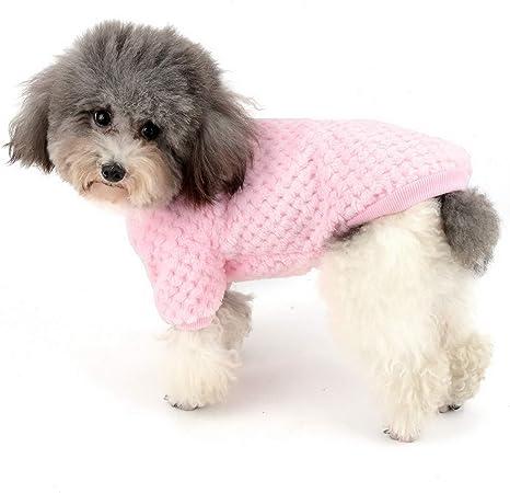 Timogee Hundemantel Kleiner Hund Kleidung Winter Hundepullover Modische Kleidung Soft Bequem Sweatshirt f/ür Welpen Kleine und Mittlere Haustiere