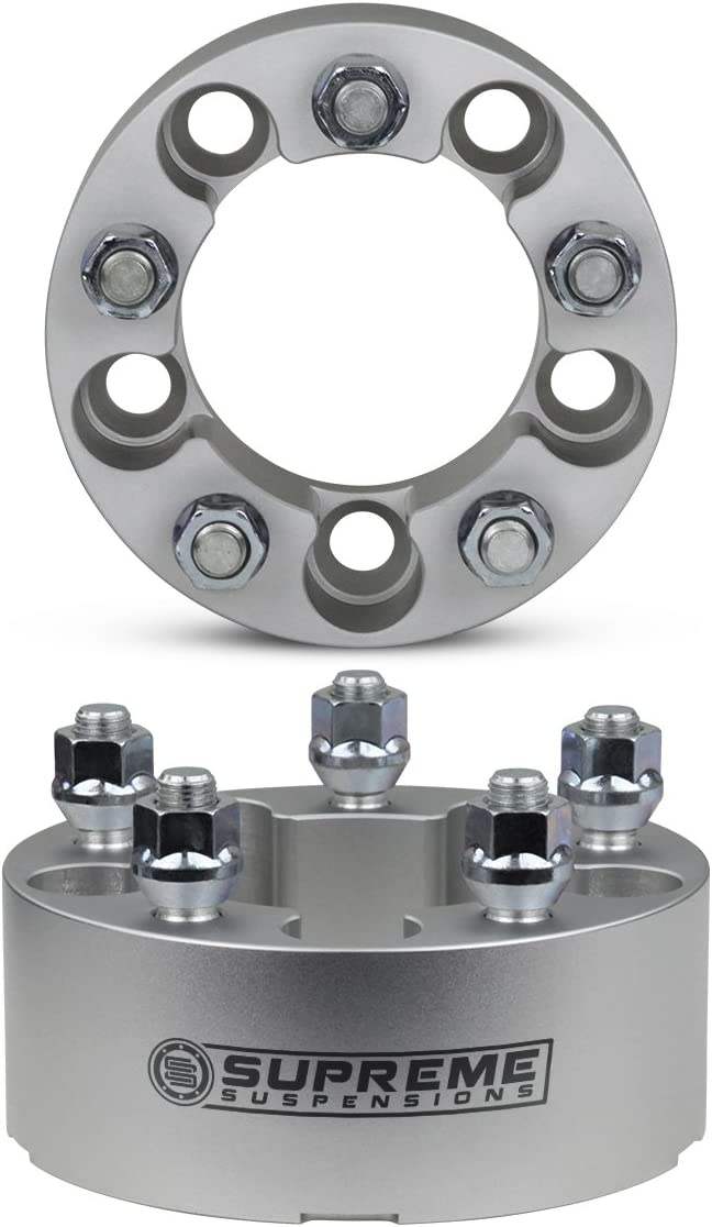 5x5.5 Wheels on Explorer Black Supreme Suspensions 4x 1.5 Wheel Spacers for 1991-2010 Ford Explorer Wheel Adapters 5x4.5 to 5x5.5 with 1//2x20 Studs
