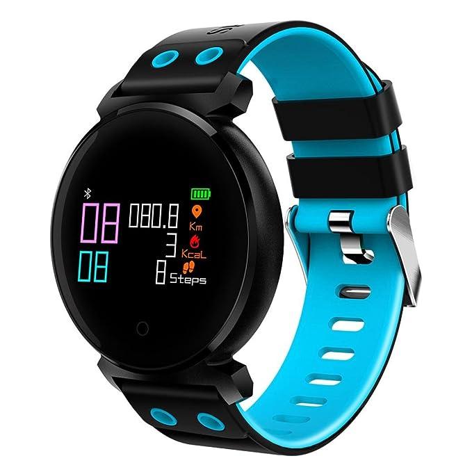 qhj Bluetooth Smart reloj IP68 resistente al agua Fitness Tracker Tensiómetro Pulsómetro
