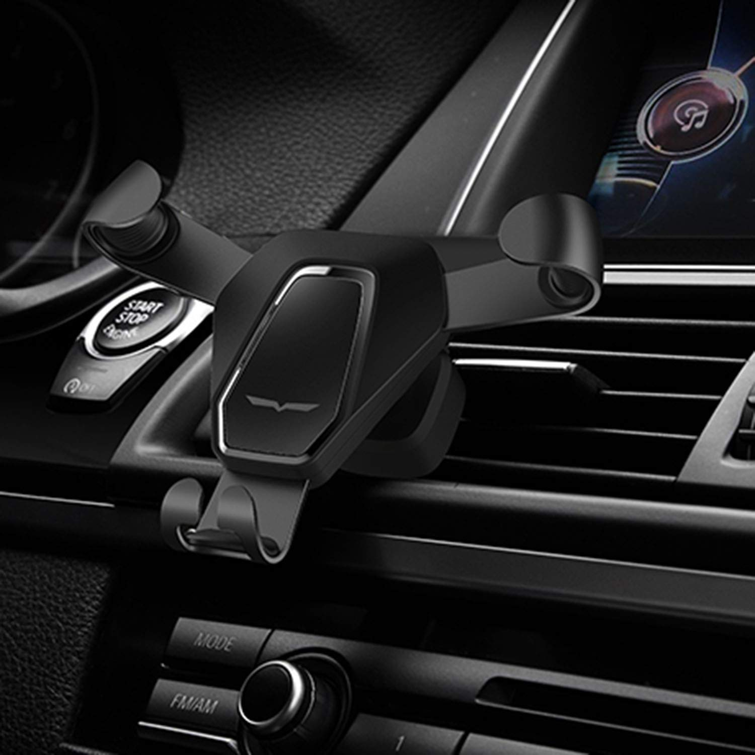 Newest Car Phone Gravity Holder Black 4351518801 Fit-Fun Air Vent Mount Cell Phone Holder with 360 degree Spring Clip Car Cradle Mount Mobile Phone Stand for iPhone X//8//8Plus//7//7Plus//6s//6Plus//5S Smartphone