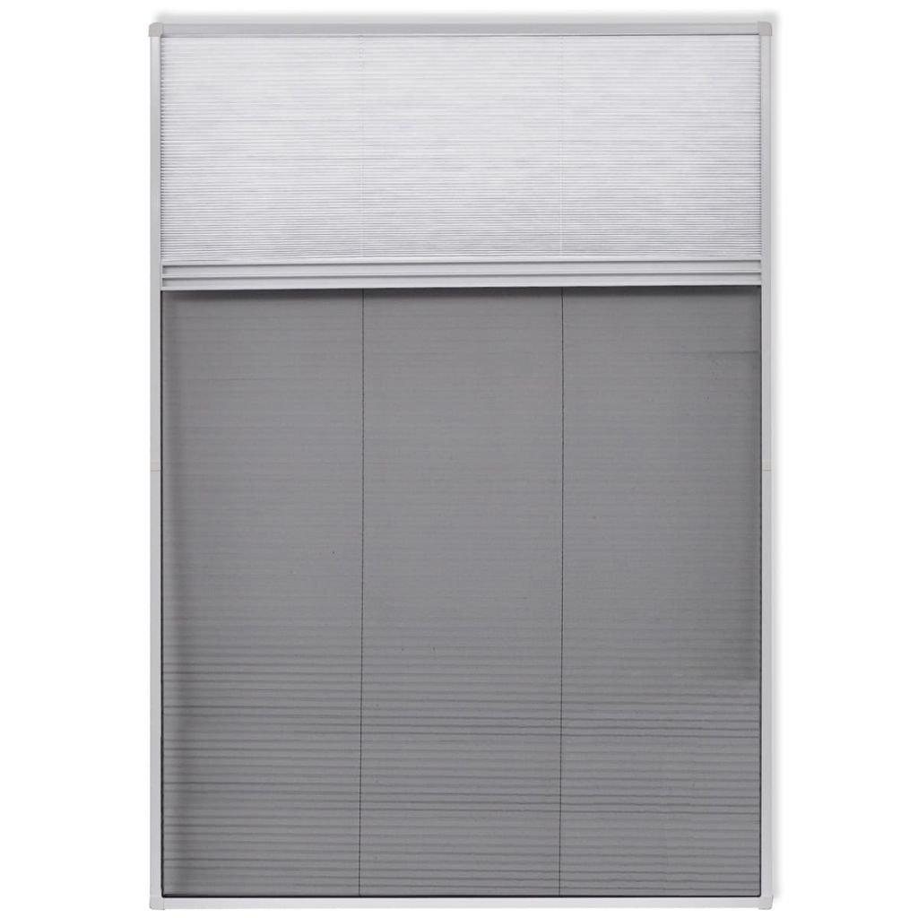 vidaXL Duo-Plisee Insektenschutz Fliegengitter Fenster Aluminium 160 x 80 cm