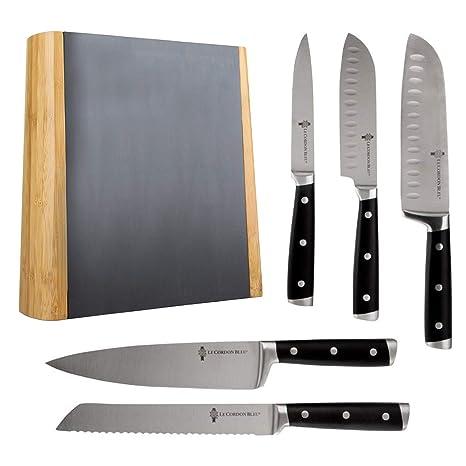 Q Sharp Le Cordon Bleu - Juego de cuchillos de cocina (5 ...