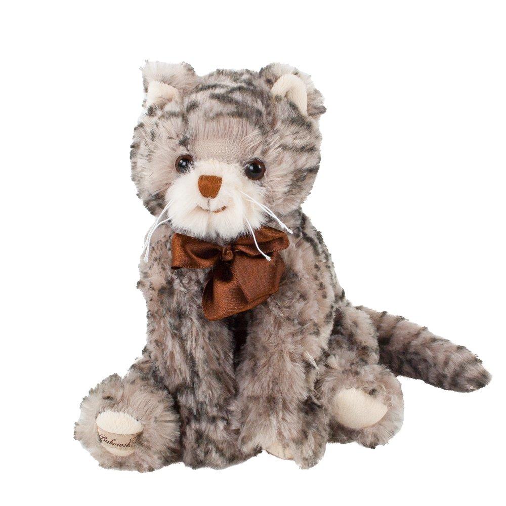 Bukowski gato, Gris getigert con peluche marrón lazo/de peluche ...