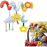 TOYMYTOY Kid Baby Crib Cot Pram Hanging Rattles Spiral Stroller Car Seat Toy(sun,moon)
