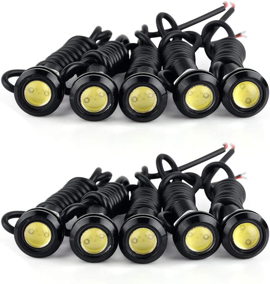 10pcs 9W 110LM LED Car Eagle Eye Auto Daytime Running Lights Turn Signal Lamps