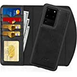 """FYY Case for Samsung Galaxy S20 Ultra 5G 6.9"""", 2-in-1 Magnetic Detachable Wallet Case [Wireless Charging Support] with Card S"""
