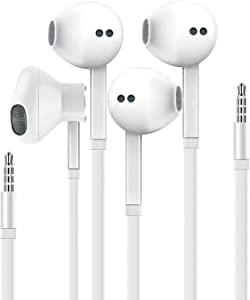 [Apple MFi Certified] Apple Earbuds/Headphones/Earphones with 3.5mm Wired in Ear Headphone Plug(Built-in Microphone & Volume Control) Compatible with iPhone,iPad,Compter,MP3/4,Android etc - 2 Pack