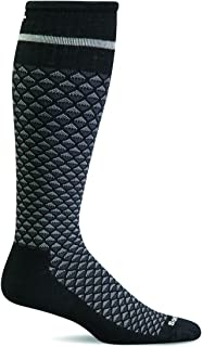 product image for Sockwell Men's Micro Mix Firm Graduated Compression Sock, Black - M/L