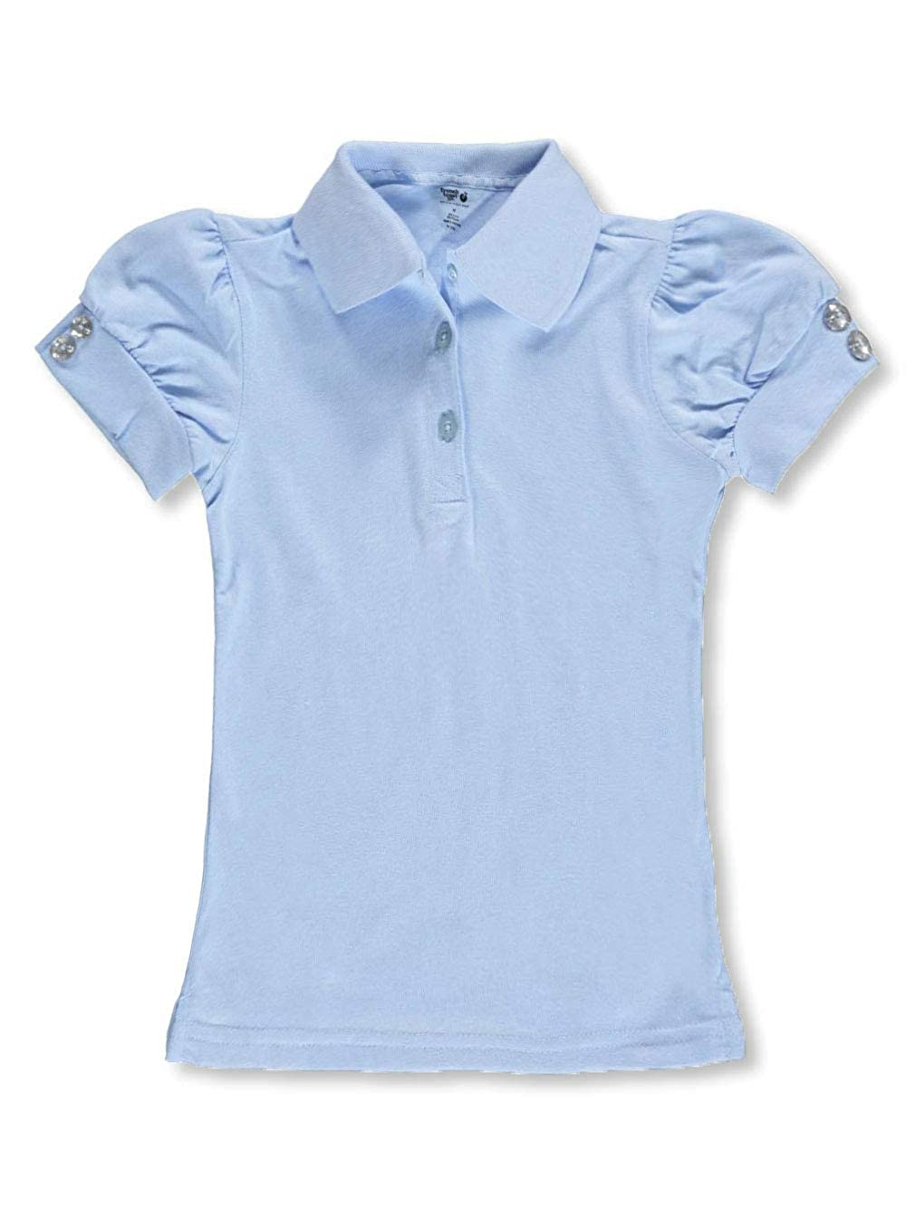 French Toast Little Girls Toddler Gem Cuffs S//S Knit Polo