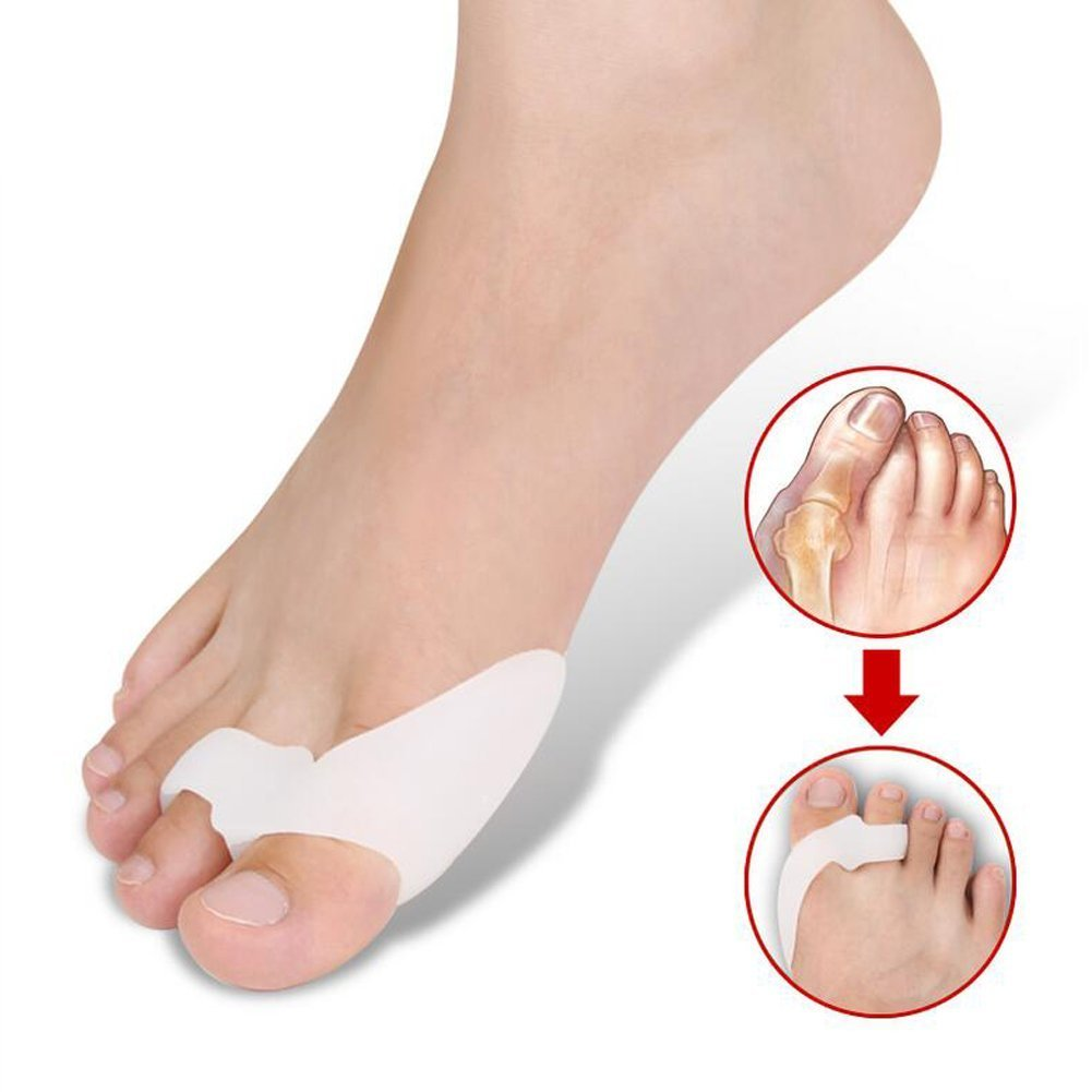 Right Options 1 Pair Gel Bunion Corrector Toe Protectors Straightener Seperators Toe Spreader