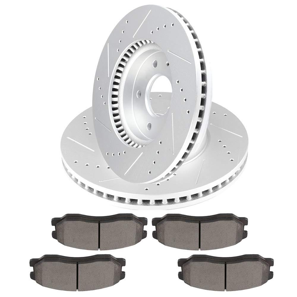 Rear Brake Rotors Ceramic Pads For 2007 2008 2009 CHEVY EQUINOX PONTIAC TORRENT