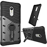 Bracevor Xiaomi Redmi Note 4 Back Case Cover Hybrid 360 Rotating Kickstand - Black