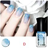 hunpta Thermal Nail Varnish Color Changing Peel Off Varnish Beauty Sexy Cosmetic