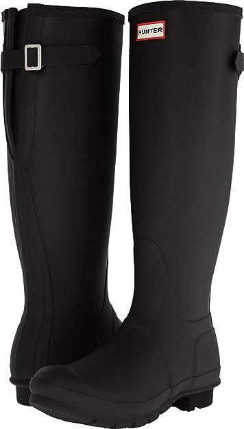 Hunter Original Tall Wellies Rainboots Black Womens Boots 9 M US