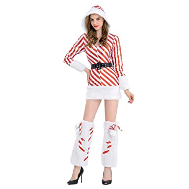 d98d8aac26 Amazon.com: HÖTER 2017 New Women's Christmas Red Stripe Hairy Sexy ...
