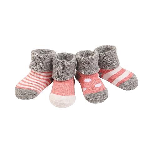Scrox 5 Pares Calcetines de bebé Calcetines de bebé Gruesos Otoño e Invierno Adecuado para bebé