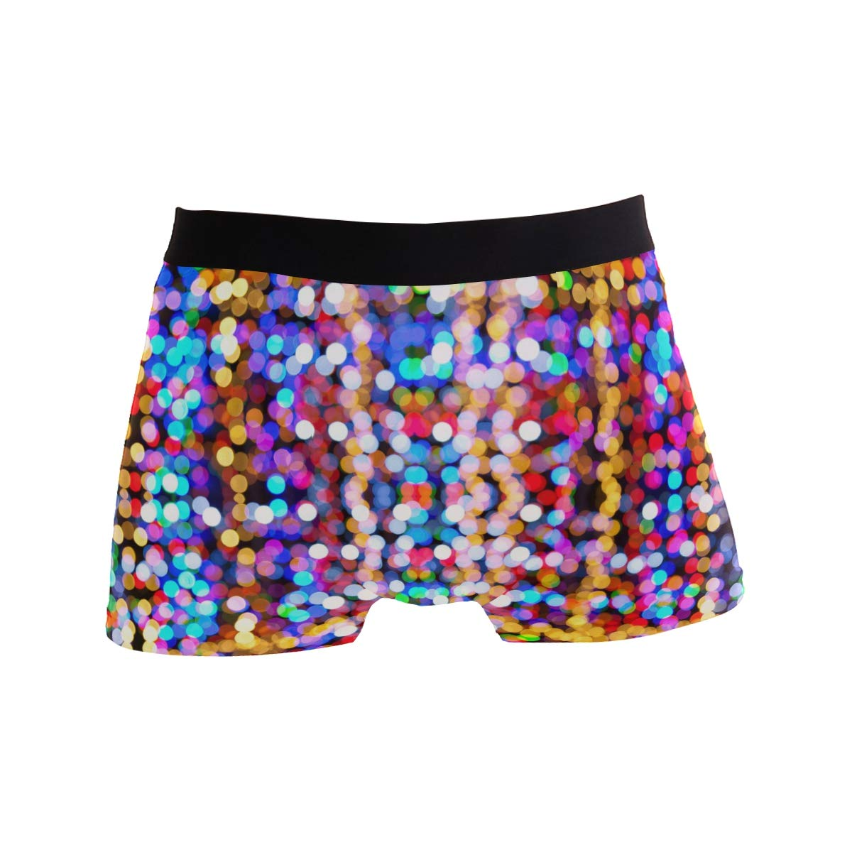 Hipster Unique Blur Blurred Christmas Assorted-ColorBoxer Briefs Mens Underwear Boys Breathable Stretch Low Rise