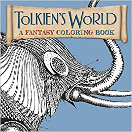 tolkiens world adult coloring book a fantasy coloring book amazoncouk ian miller allan curless mauro mazzara 9781626865556 books - Fantasy Coloring Book