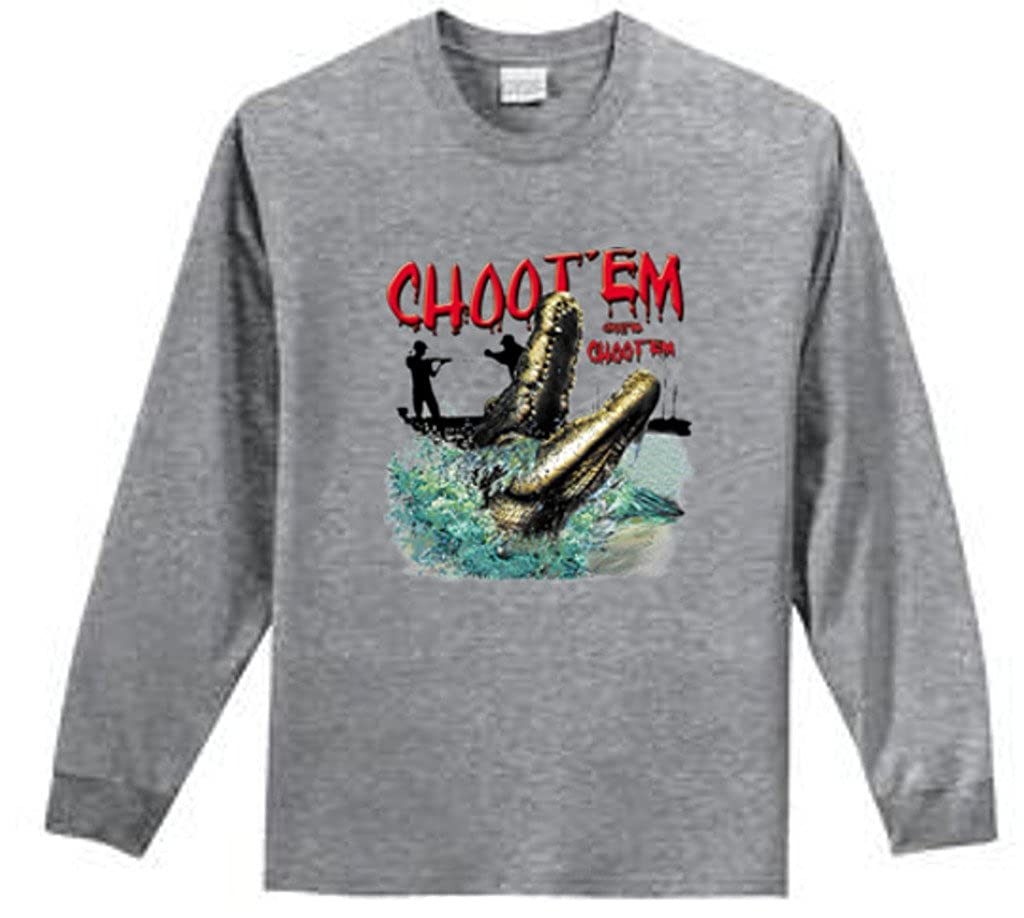 Shirt Patron Brand Choot Em Swamp People Mens Long Sleeve T Shirt