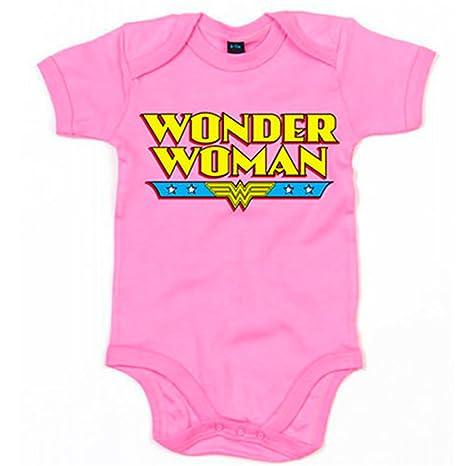 Body bebé Wonder Woman La Mujer Maravilla - Rosa, 6-12 meses