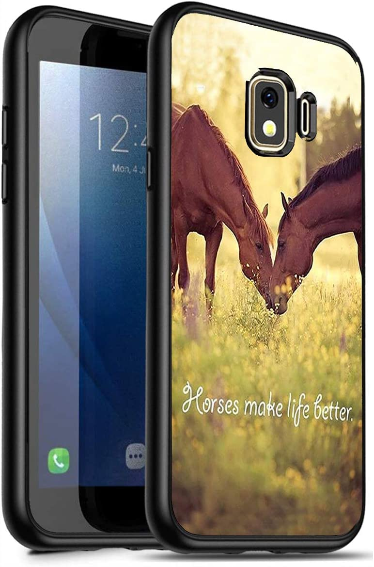 Galaxy J2 Core Case,J2 (2019) Case,J2 Dash Case,J2 Pure Case, Premium TPU Ultra Thin Flexible Shock Absorbent Silicone Rubber Protective Cover for Samsung Galaxy J2 Core, Horse Theme