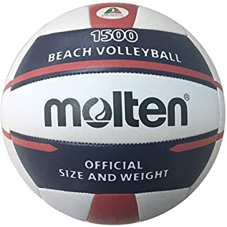 Molten Beach Volley-Ball V5B1500 Bleu/Rouge