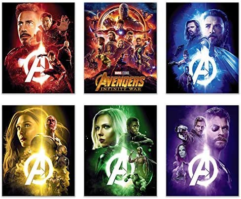 Avengers Poster 8 Player Children/'s Birthday Party Game Set