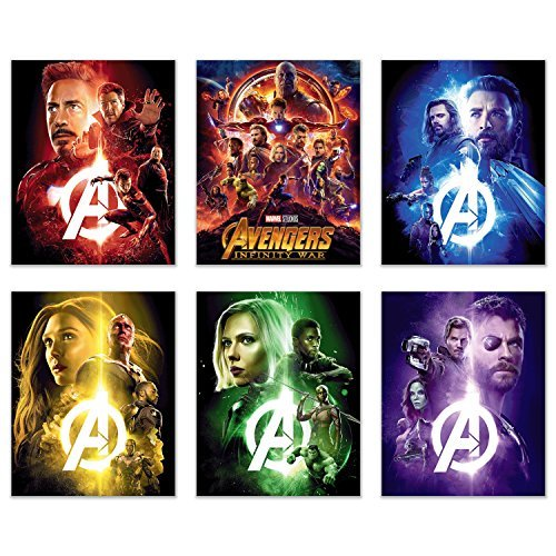 Avengers Infinity War Movie Poster Set of 6