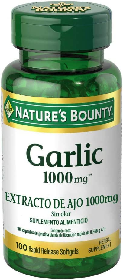 Nature's Bounty Garlic Pills and Herbal Health Supplement