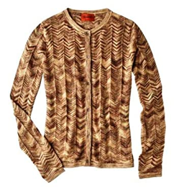 Missoni Fopr Target Womens Gold Space Dye Cardigan Sweater Xs At