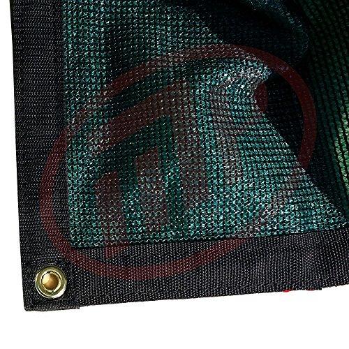 FJYW Shade Cloth   Premium 90% Sun Shade, Green, 6'. x 8'.